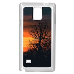Sunset At Nature Landscape Samsung Galaxy Note 4 Case (White)