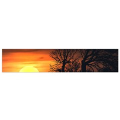 Sunset At Nature Landscape Flano Scarf (Small)