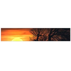 Sunset At Nature Landscape Flano Scarf (Large)