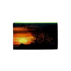 Sunset At Nature Landscape Cosmetic Bag (XS)