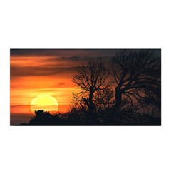 Sunset At Nature Landscape Satin Wrap
