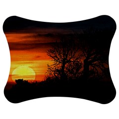 Sunset At Nature Landscape Jigsaw Puzzle Photo Stand (Bow)