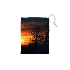 Sunset At Nature Landscape Drawstring Pouches (XS)