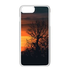 Sunset At Nature Landscape Apple iPhone 7 Plus White Seamless Case