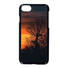 Sunset At Nature Landscape Apple iPhone 7 Seamless Case (Black)