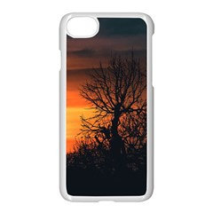 Sunset At Nature Landscape Apple iPhone 7 Seamless Case (White)
