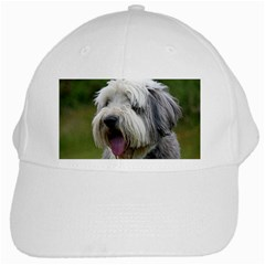 Bearded Collie White Cap