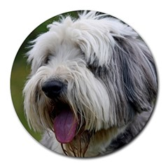 Bearded Collie Round Mousepads