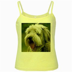 Bearded Collie Yellow Spaghetti Tank
