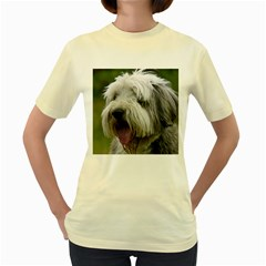 Bearded Collie Women s Yellow T-Shirt