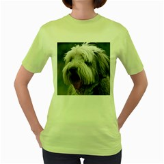 Bearded Collie Women s Green T-Shirt