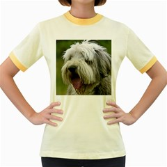 Bearded Collie Women s Fitted Ringer T-Shirts