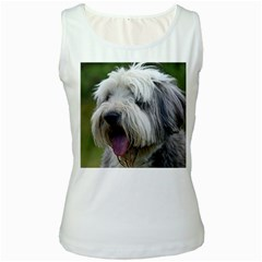 Bearded Collie Women s White Tank Top