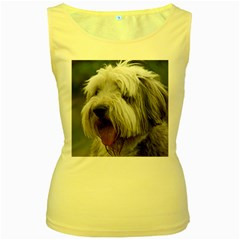 Bearded Collie Women s Yellow Tank Top