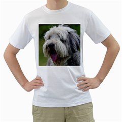 Bearded Collie Men s T-Shirt (White) (Two Sided)