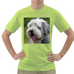 Bearded Collie Green T-Shirt