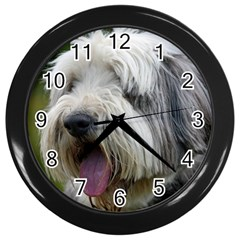 Bearded Collie Wall Clocks (Black)