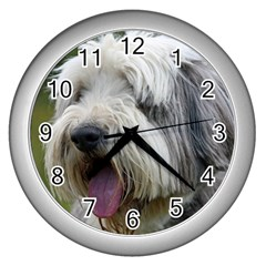 Bearded Collie Wall Clocks (Silver)