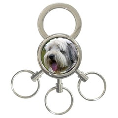 Bearded Collie 3-Ring Key Chains