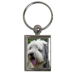 Bearded Collie Key Chains (Rectangle)