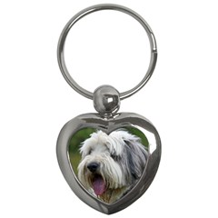 Bearded Collie Key Chains (Heart)