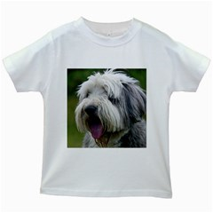 Bearded Collie Kids White T-Shirts