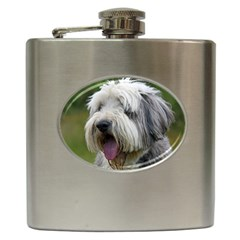Bearded Collie Hip Flask (6 oz)