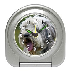 Bearded Collie Travel Alarm Clocks