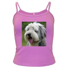 Bearded Collie Dark Spaghetti Tank