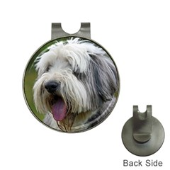 Bearded Collie Hat Clips with Golf Markers
