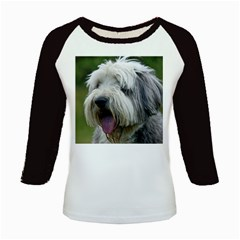 Bearded Collie Kids Baseball Jerseys