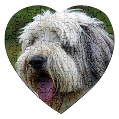 Bearded Collie Jigsaw Puzzle (Heart)
