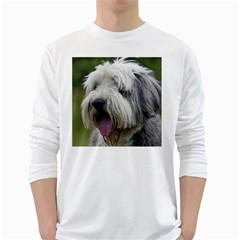 Bearded Collie White Long Sleeve T-Shirts