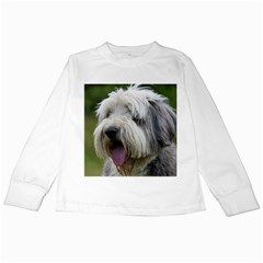 Bearded Collie Kids Long Sleeve T-Shirts