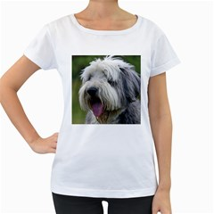 Bearded Collie Women s Loose-Fit T-Shirt (White)