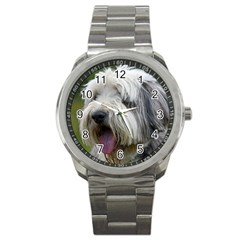 Bearded Collie Sport Metal Watch
