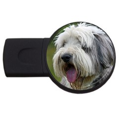 Bearded Collie USB Flash Drive Round (4 GB)