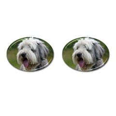 Bearded Collie Cufflinks (Oval)