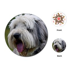 Bearded Collie Playing Cards (Round)