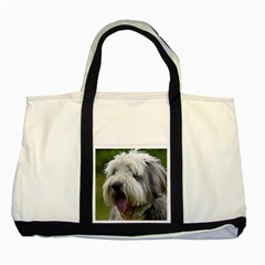 Bearded Collie Two Tone Tote Bag