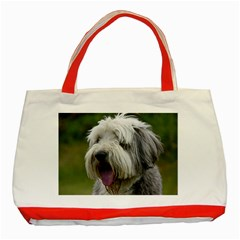 Bearded Collie Classic Tote Bag (Red)