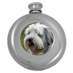 Bearded Collie Round Hip Flask (5 oz)