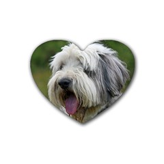 Bearded Collie Heart Coaster (4 pack)