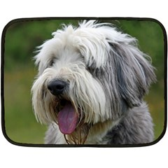 Bearded Collie Double Sided Fleece Blanket (Mini)