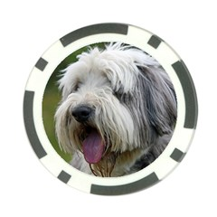 Bearded Collie Poker Chip Card Guard (10 pack)