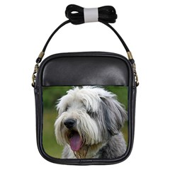 Bearded Collie Girls Sling Bags