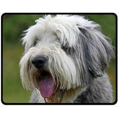 Bearded Collie Fleece Blanket (Medium)