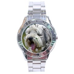 Bearded Collie Stainless Steel Analogue Watch