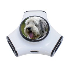 Bearded Collie 3-Port USB Hub