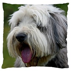 Bearded Collie Large Cushion Case (One Side)